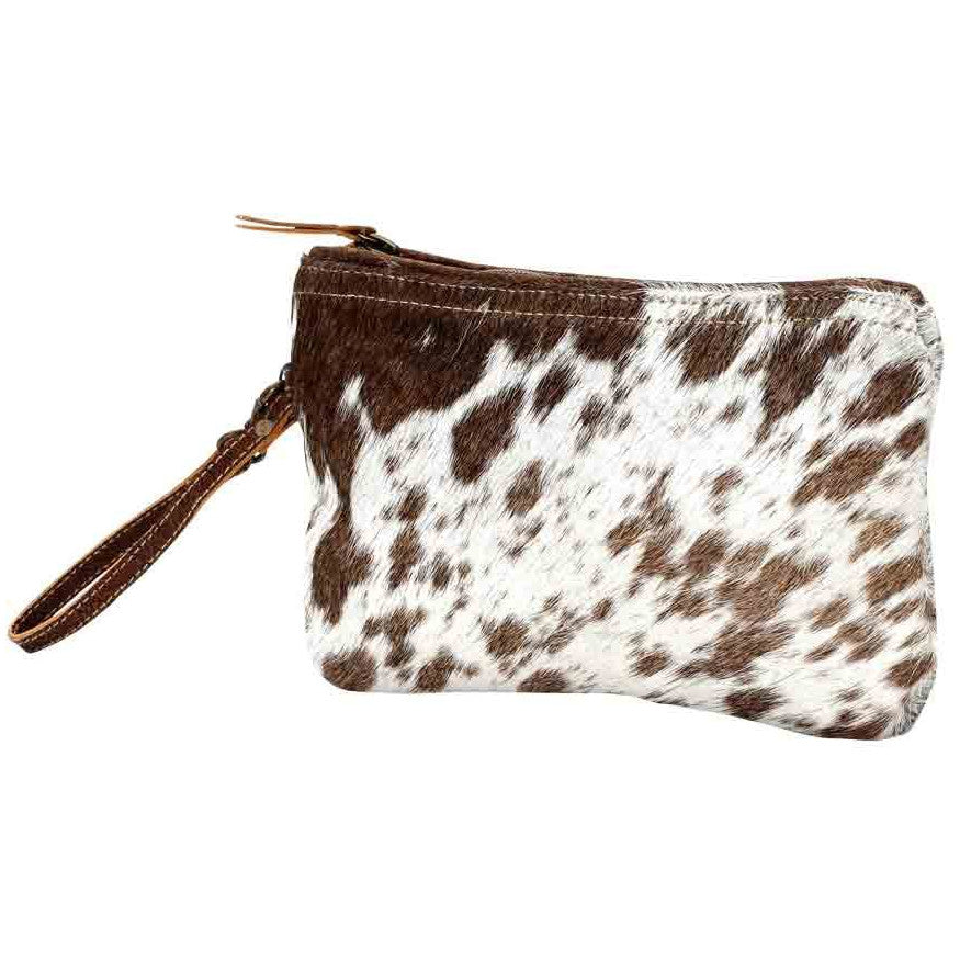 Myra Small White & Brown Hairon Bag