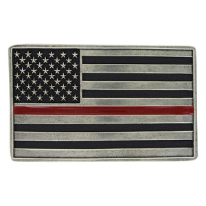 Montana Silversmiths Stand Behind the Red Line Attitude Belt Buckle