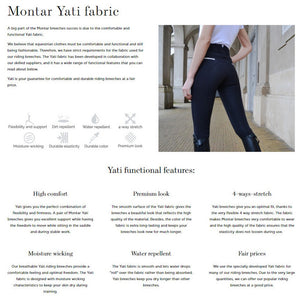 Montar Women's Essential Yati High Waist Vol 2 - Fabric Knee Riding Breeches