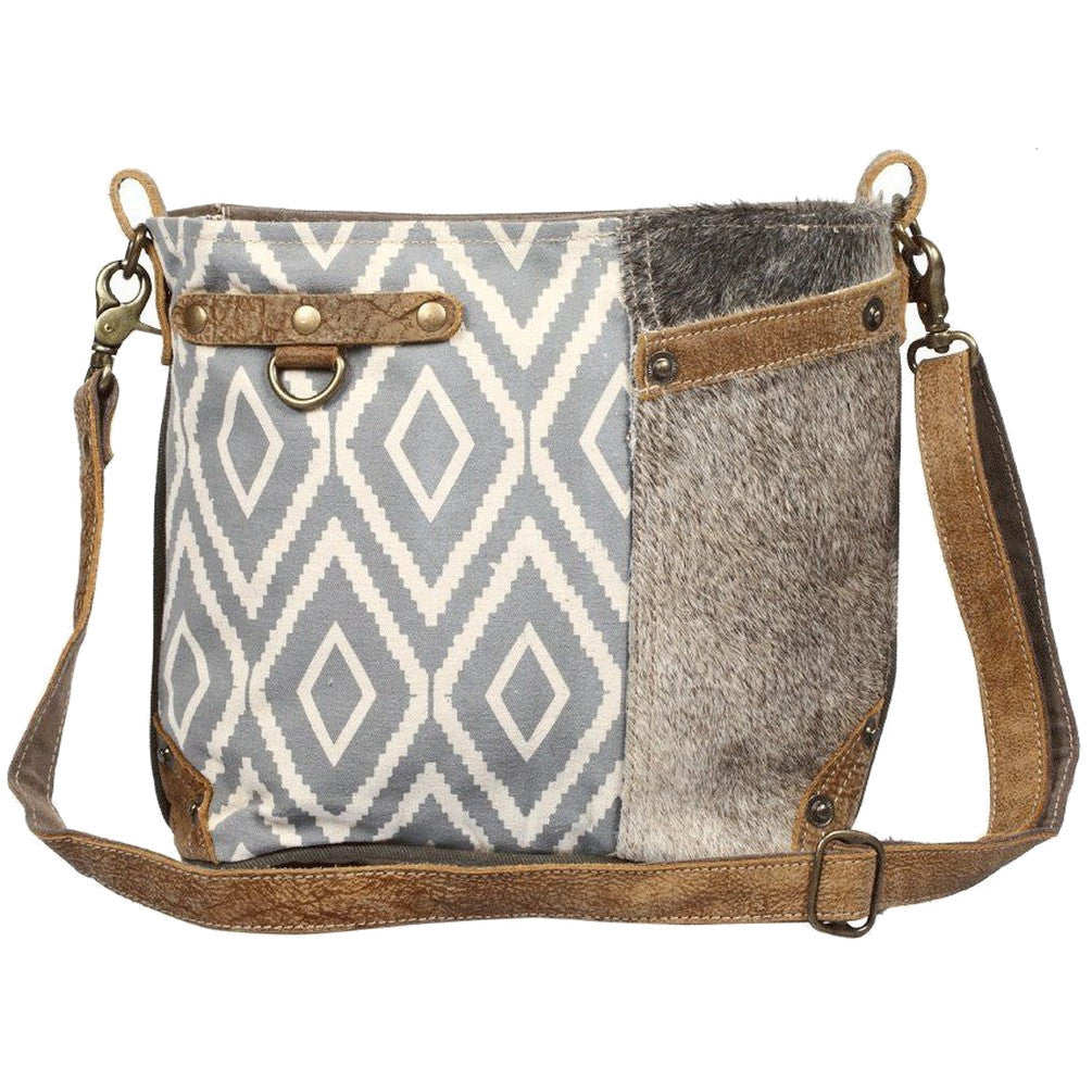 Myra Washed-Out Side Pocket Shoulder Bag
