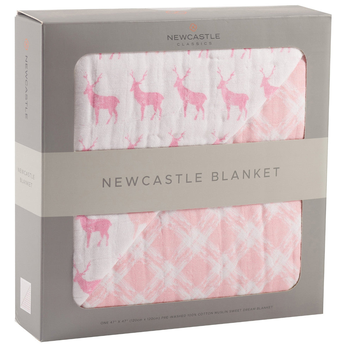 Newcastle Classics Kids' Deer Plaid Blanket