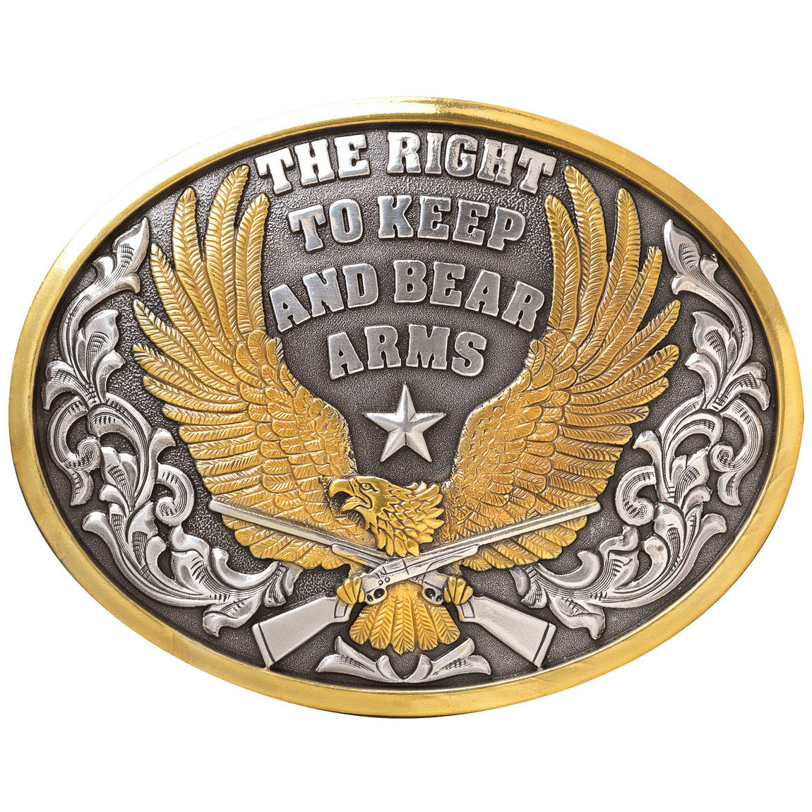 Nocona The Right To Keep And Bear Arms Belt Buckle