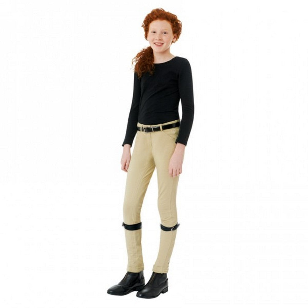 Ovation Kids' Beige Lauren Clarino Patch Breeches