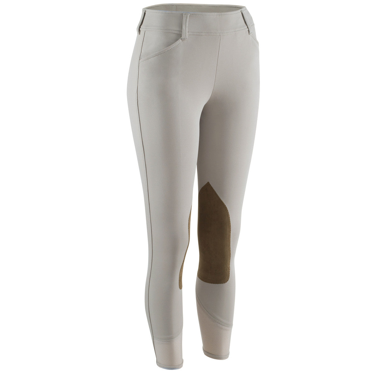 R.J. Classics Women's Belmont Mid-Rise Side Zip Knee Patch Breeches