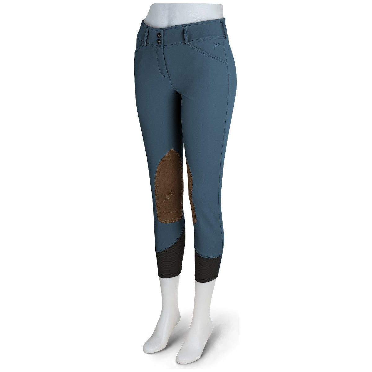 R.J. Classics Women's Pacific Gulf Natural Rise Front Zip Knee Patch Breeches
