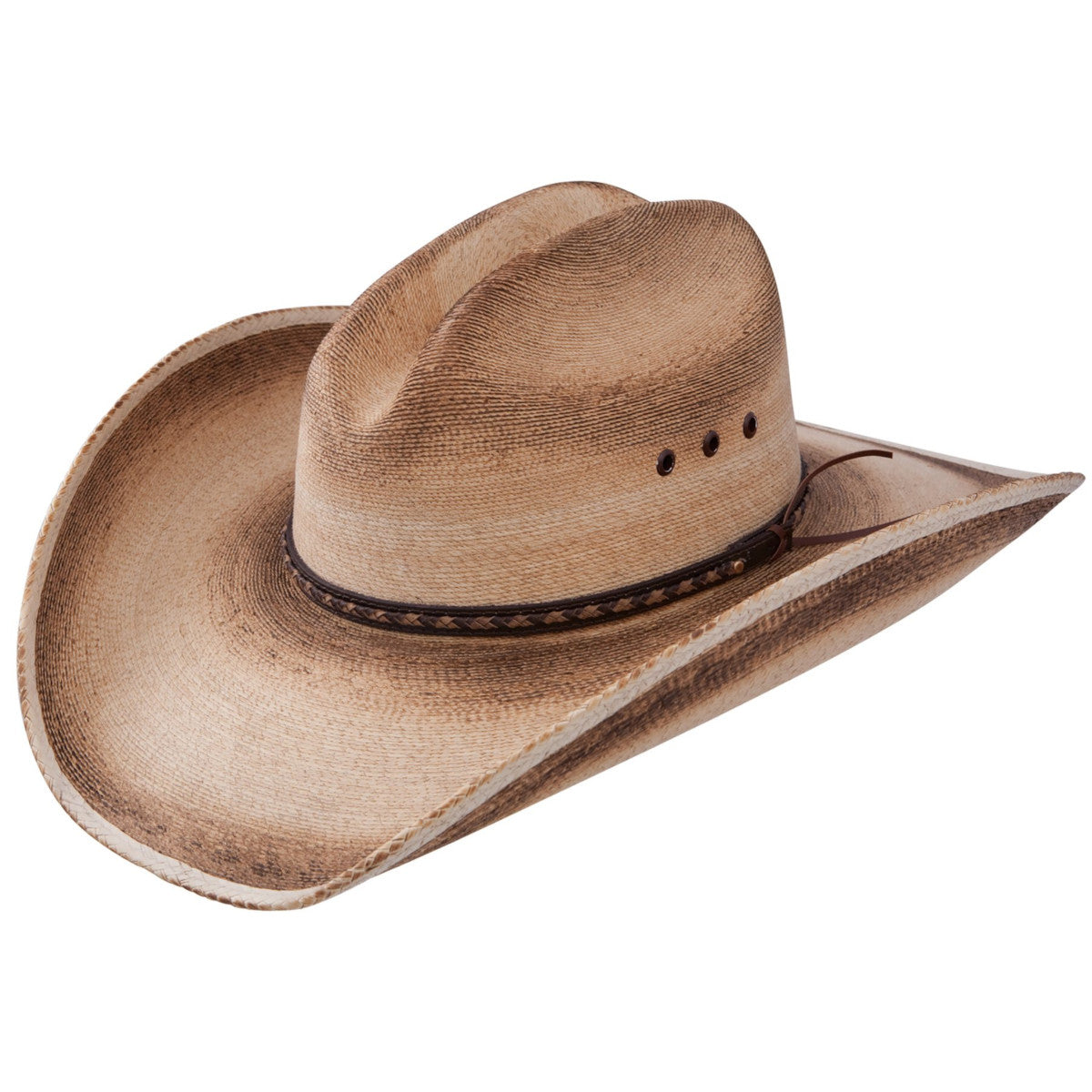 Resistol Men's Jason Aldean Georgia Boy Palm Leaf Straw Cowboy Hat