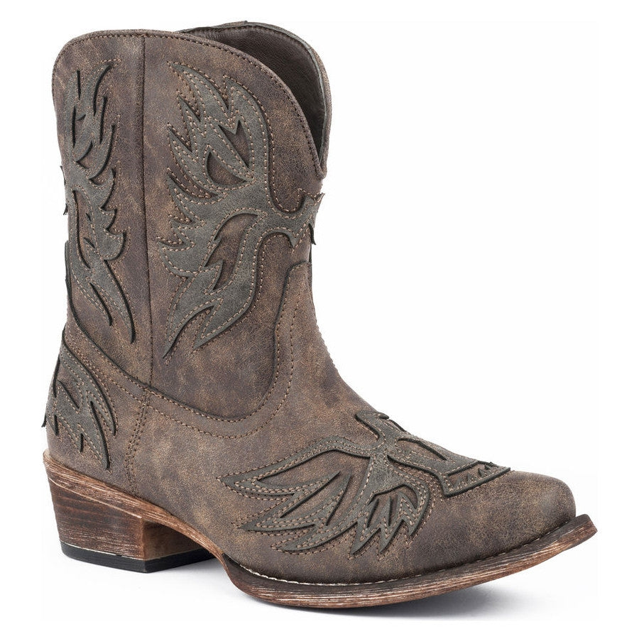 Roper Women's Amelia Eagle Overlay Short Cowgirl Boots
