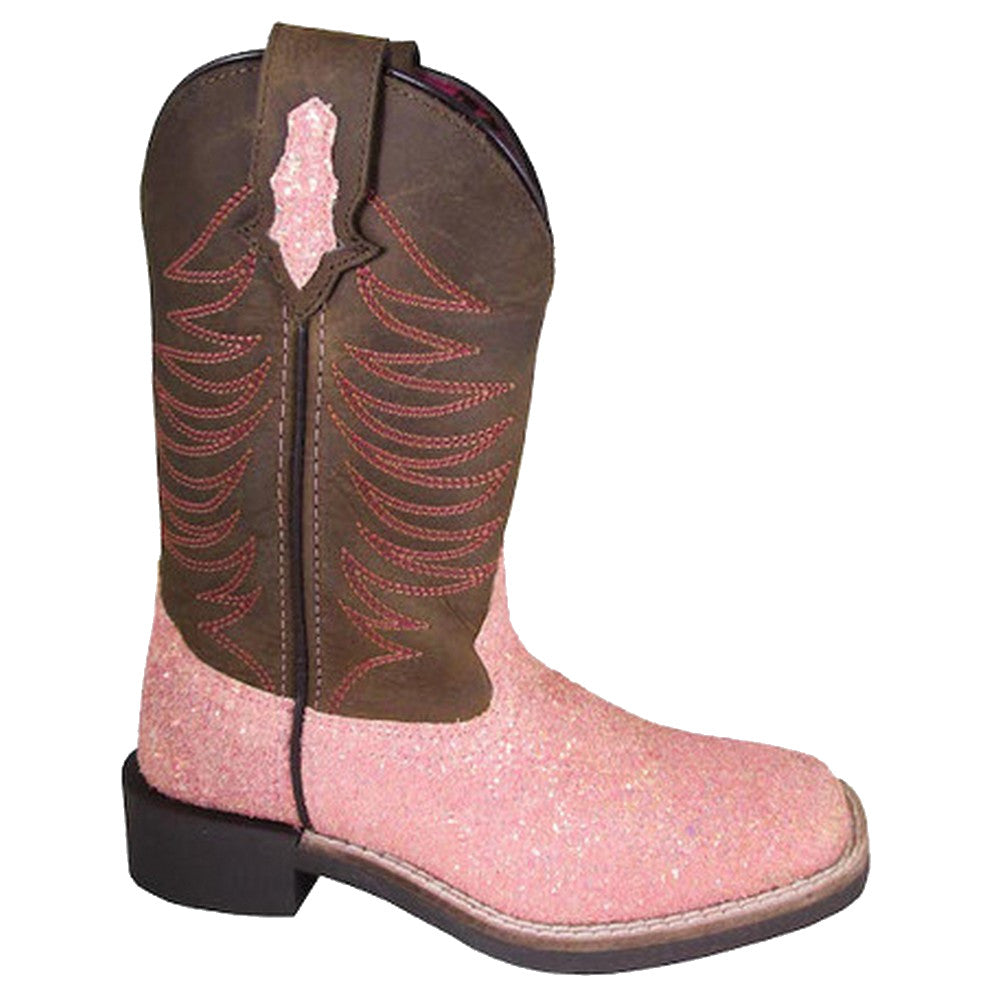 Smoky Mountain Kids' Ariel Pink Glitter Cowgirl Boots