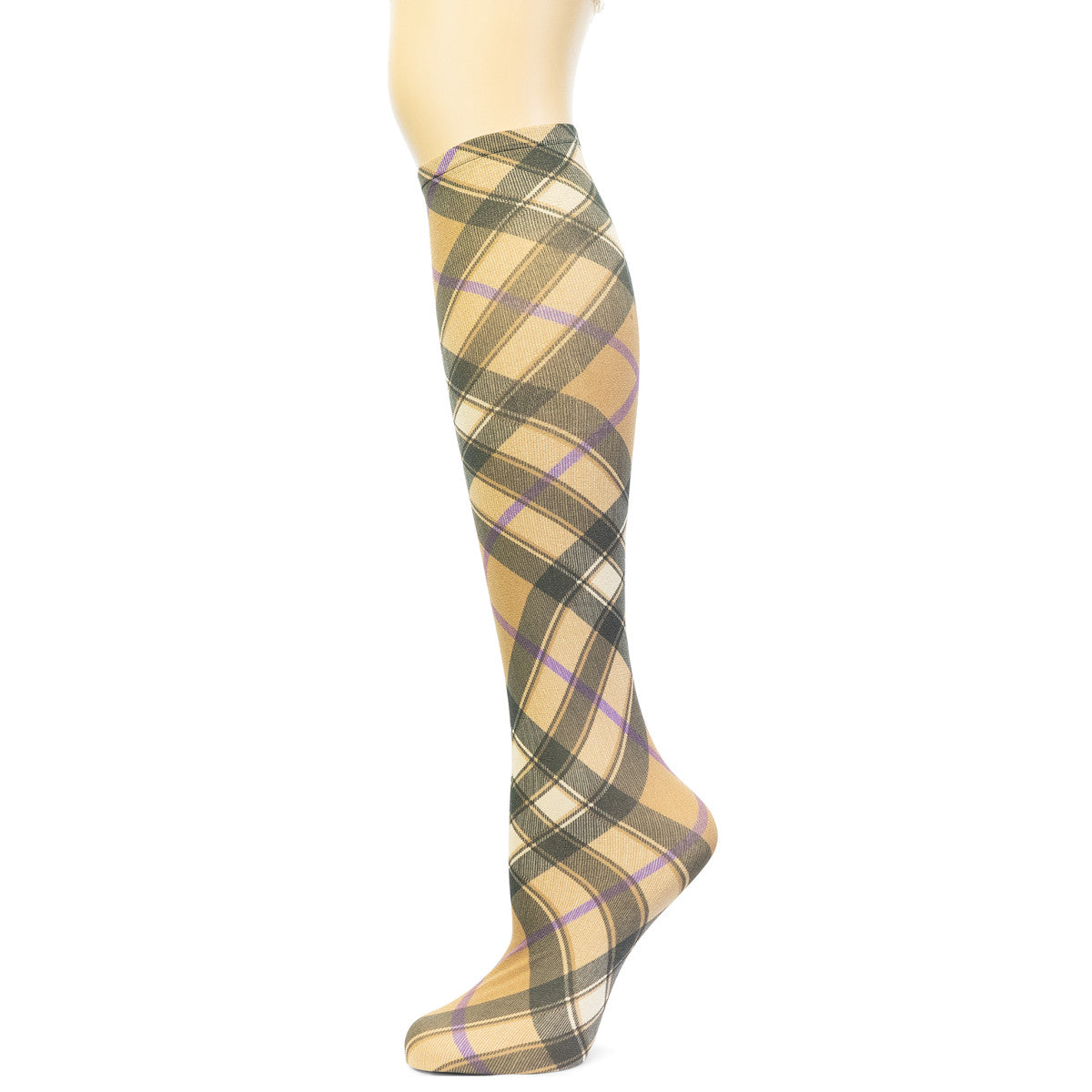 Sox Trot Women's Bias Plaid Knee High Socks