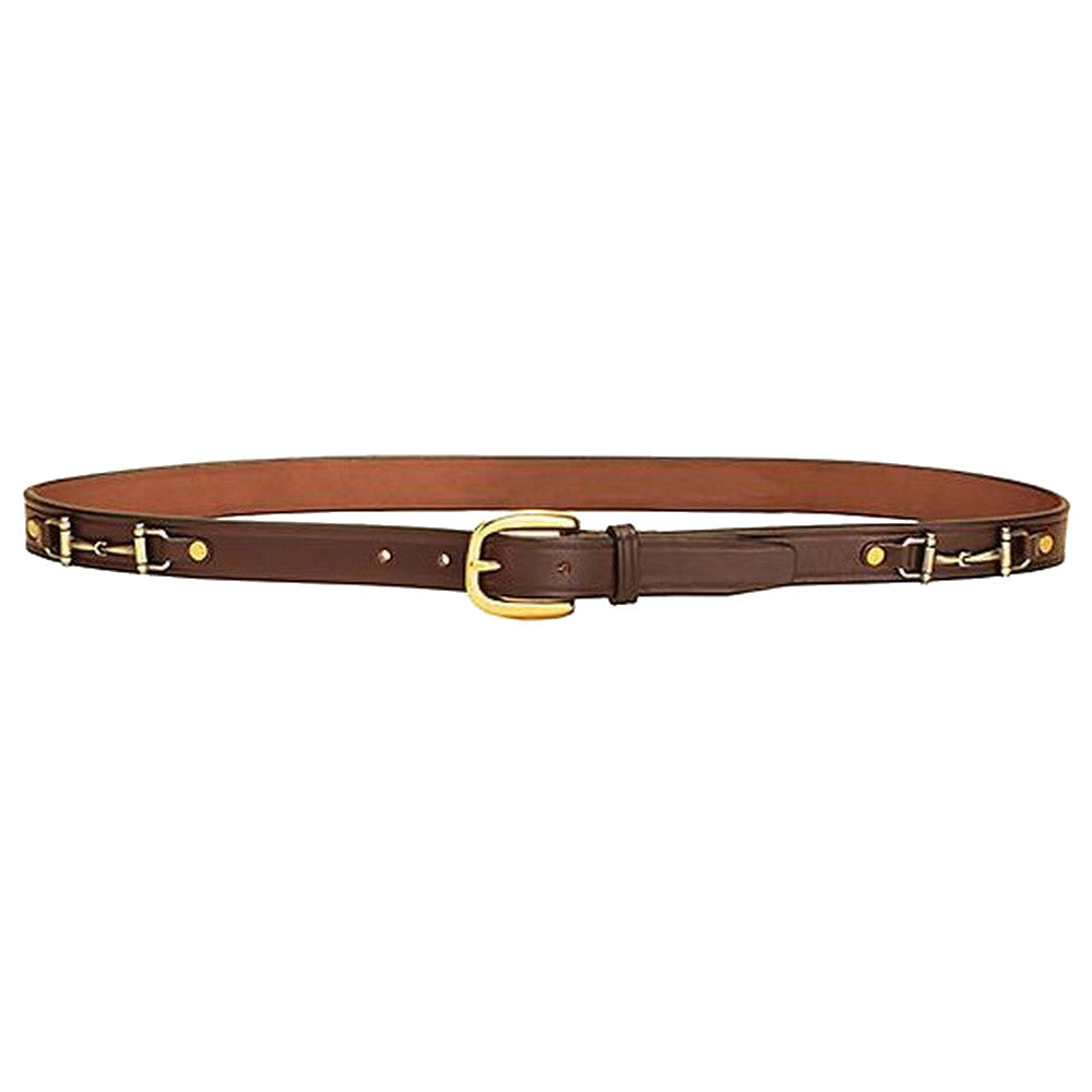 "Tory Leather Havana 1"" Snaffle Bit Belt"