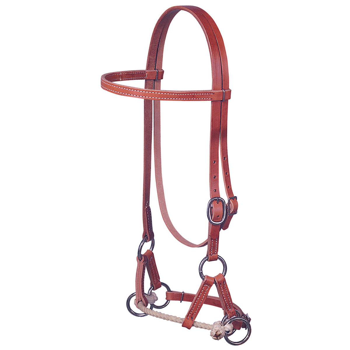 Weaver Harness Leather Side Pull Single Rope Headstall
