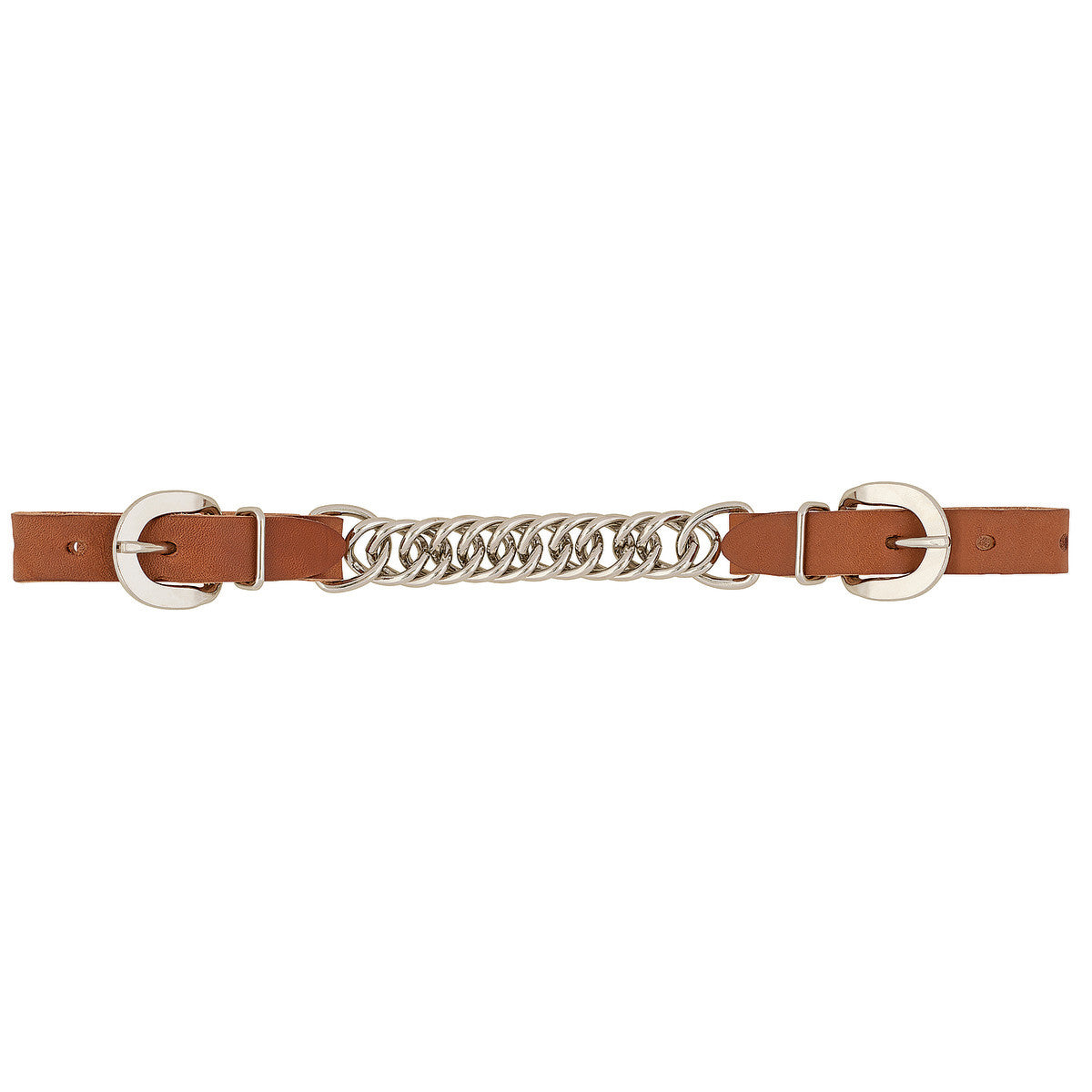 "Weaver Horizons 4.5"" Single Flat Link Chain Curb Strap - Golden Brown"