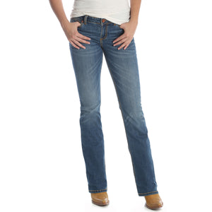 Wrangler Women's Mae Retro Mid Rise Boot Cut Jeans - KM Wash