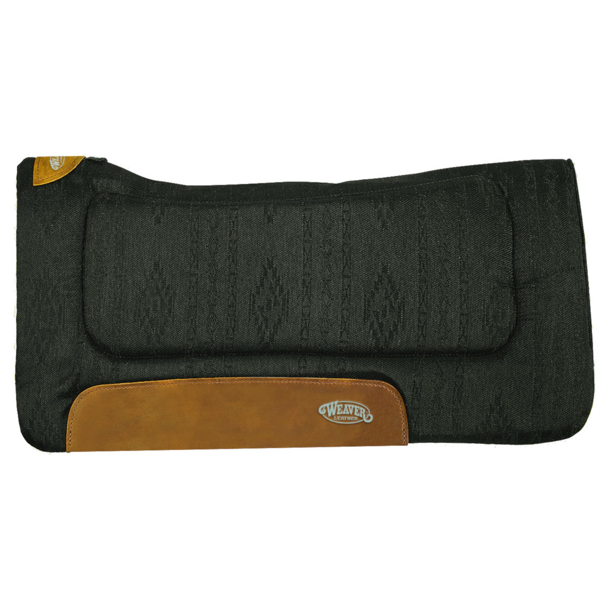 "Weaver Black Contoured Herculon Saddle Pad - 30""x30"""