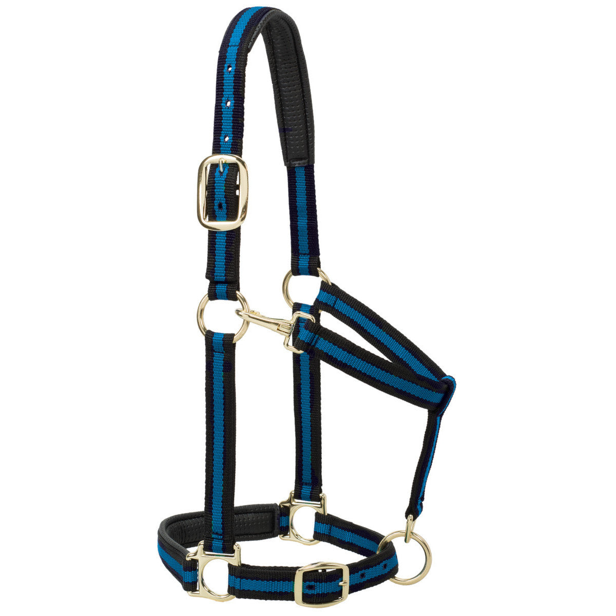 Weaver Striped Padded Adjustable Chin and Throat Snap Halter