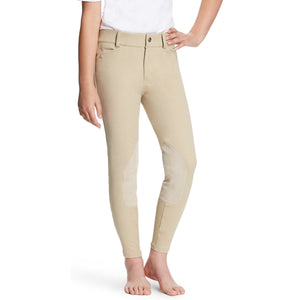 Ariat Kids' Tan Heritage Knee Patch Breeches