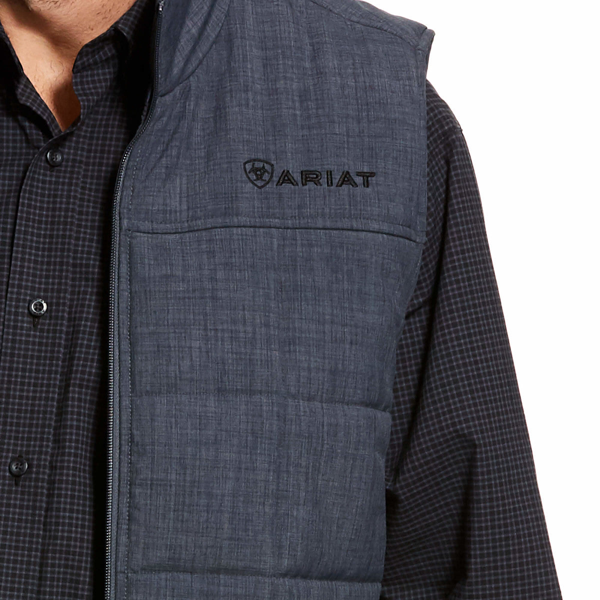 Ariat Men's Grey Crius Insulated Concealed Carry Vest