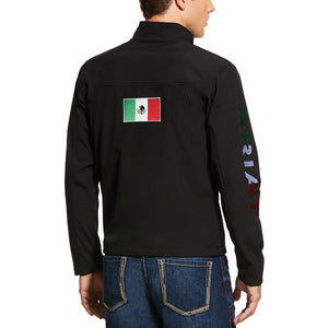 Ariat Men's Black New Team Softshell Mexico Water Resistant Jacket