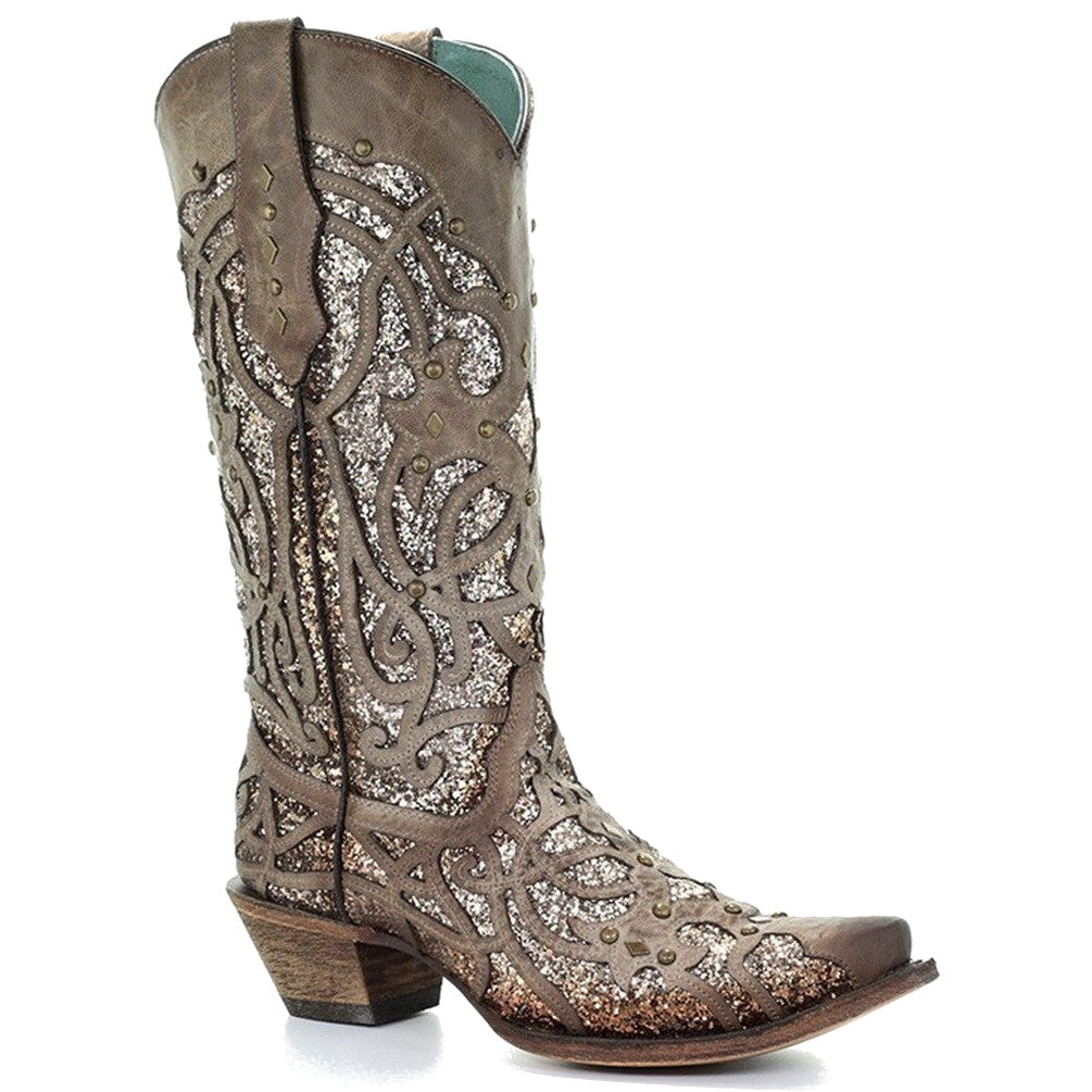 Corral Women's The Golden Luminary Roots Snip Toe Cowgirl Boots
