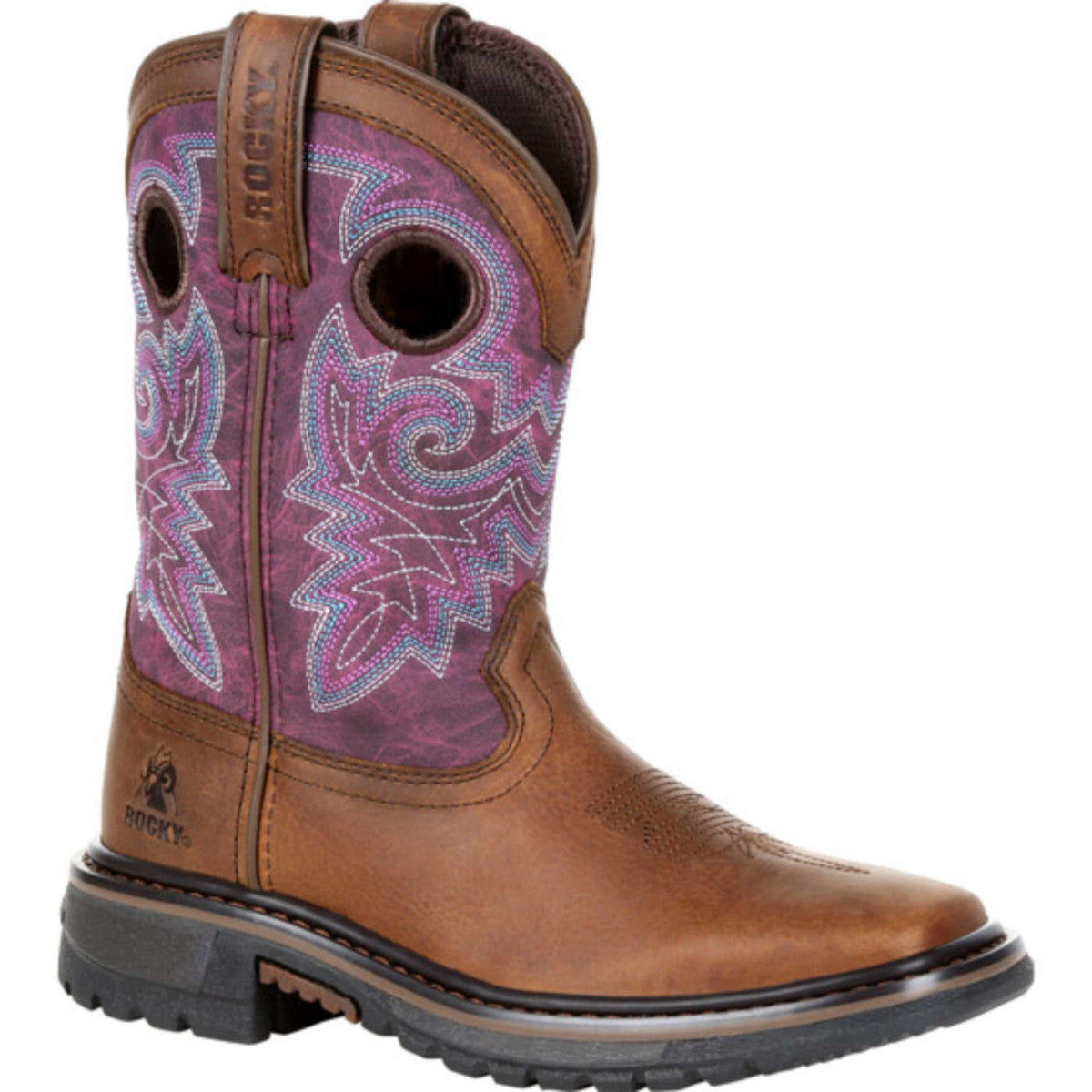 Rocky Kids' Purple Original Ride FLX Cowgirl Boots