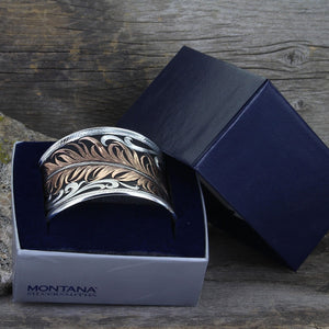 Montana Silversmiths Hope's Feather Bracelet