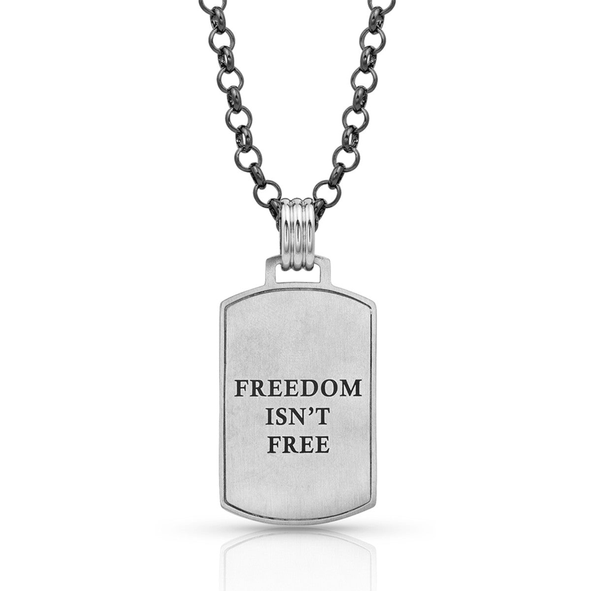 Montana Silversmiths Men's Independence Day Flag Necklace