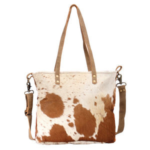 Myra Camel Hairon Tote Bag