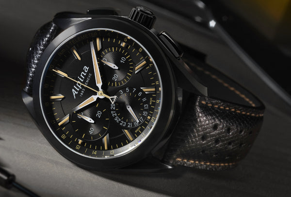 PRE-BASELWORLD NOVELTY THE ALPINER 4 BLACK FLYBACK MANUFACTURE CHRONOGRAPH