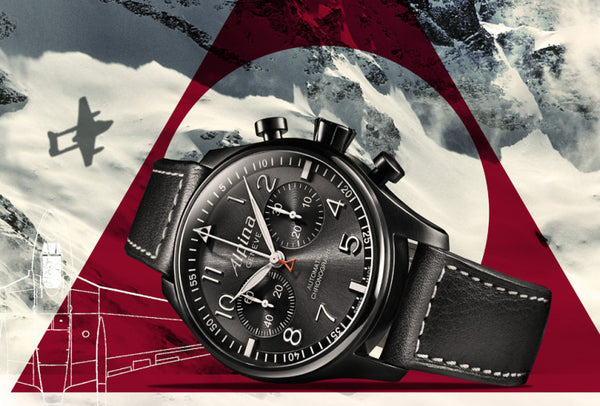 "ALPINA STARTIMER PILOT AUTOMATIC CHRONOGRAPH ""BLACK STAR"""