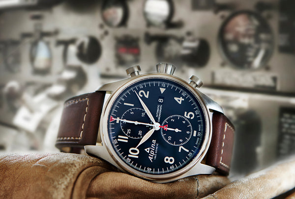 NEW ALPINA STARTIMER PILOT AUTOMATIC CHRONOGRAPH WATCHES
