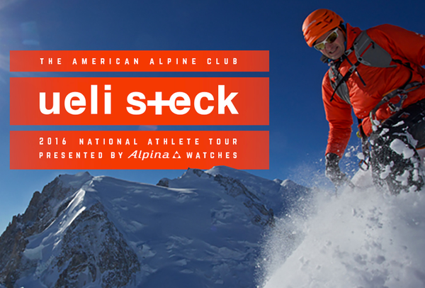 "ALPINA WATCHES PRESENTS THE ""2016 AMERICAN ALPINE CLUB ATHLETE SPEAKER TOUR"" FEATURING ""THE SWISS MACHINE"" UELI STECK"