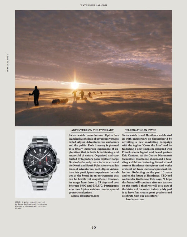 ALPINA ADVENTURES IN THE DECEMBER ISSUE OF WATCH JOURNAL