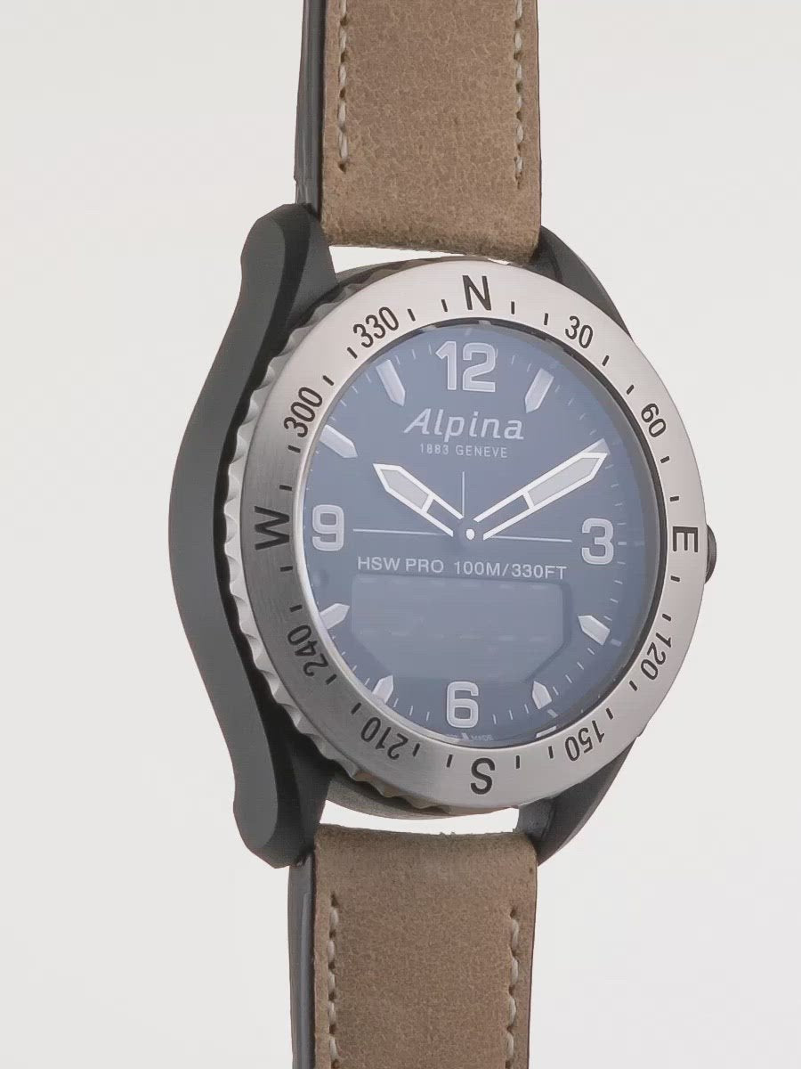 Alpinerx Black / Light Brown | Tracking Smartwatches | Alpina Watches