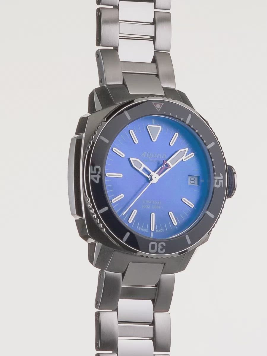 Seastrong diver Comtesse Navy | Unidirectional Bezel | Alpina Watches