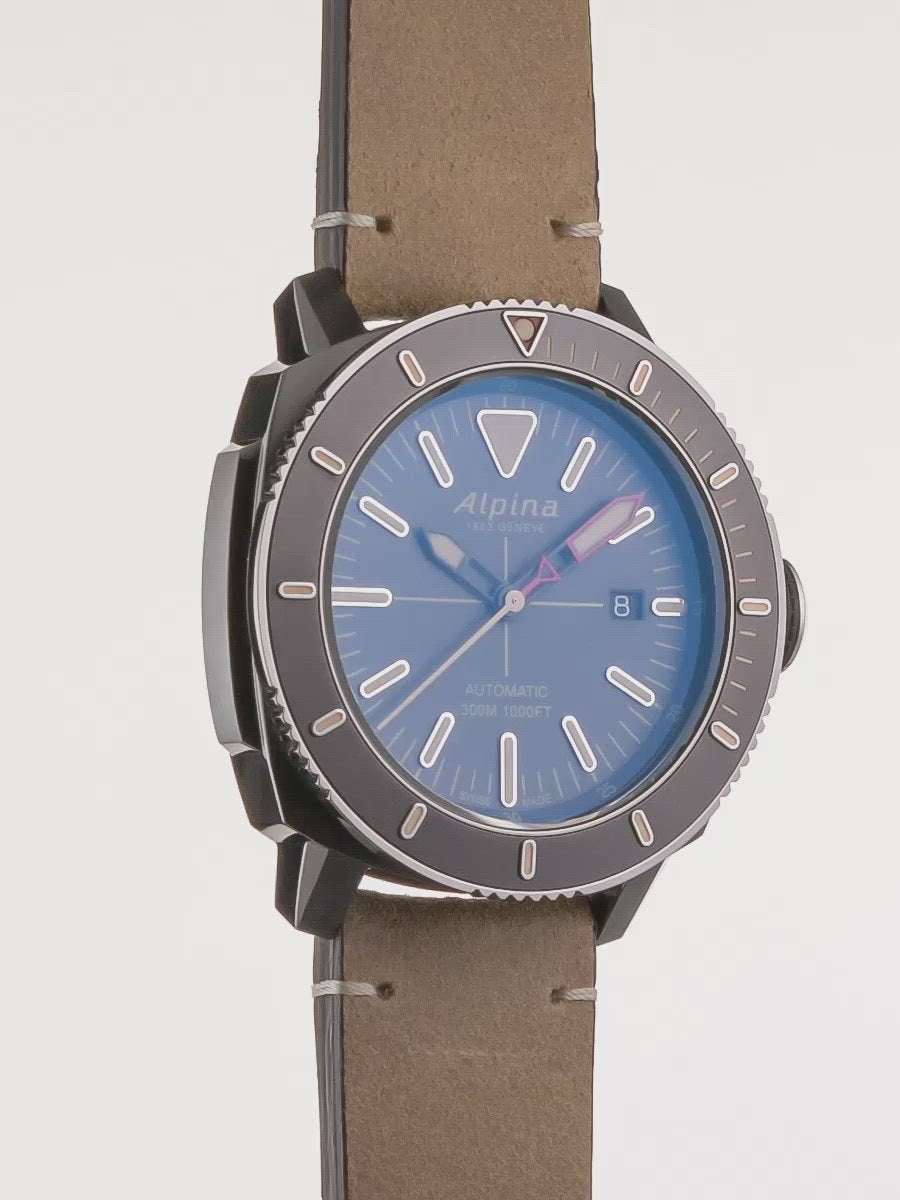 Seastrong Diver 300 Grey | Grey Color Bezel | Alpina Watches