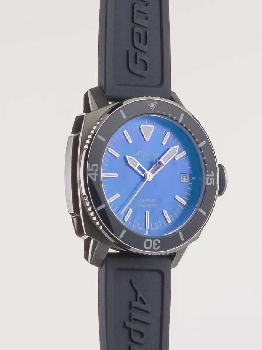Seastrong Diver Comtesse Navy | Hand-Polished | Alpina Watches