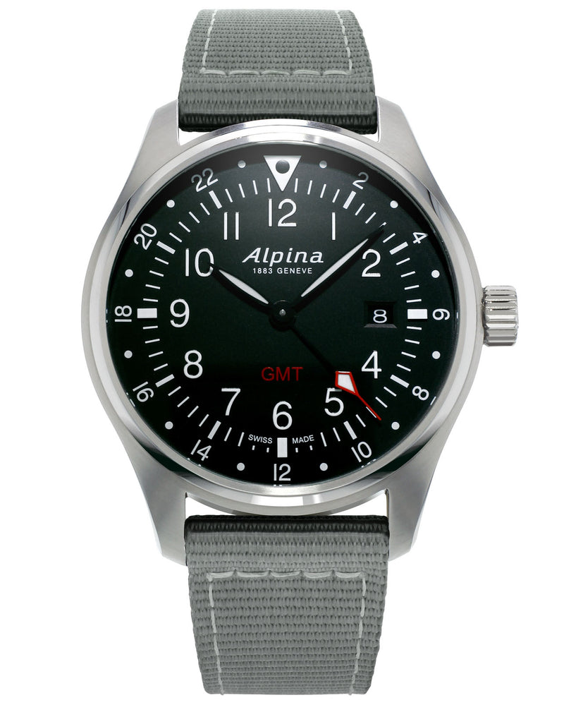 Startimer Pilot Quartz GMT Black | Masterpiece | Alpina Watch