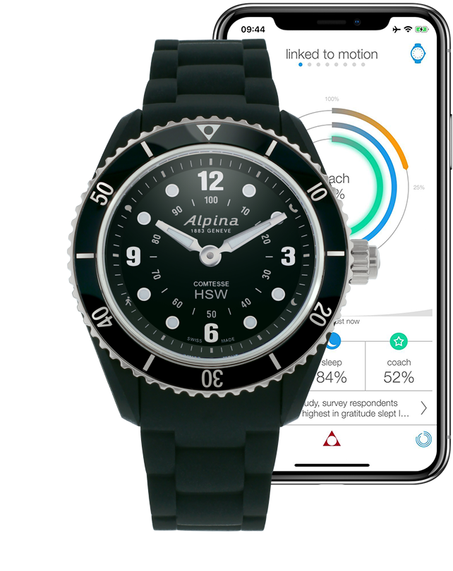 Horological Smartwatch Black | Ladies Smartwatches | Alpina Watches