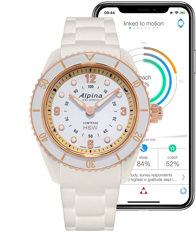 Horological Smartwatches White | Ladies White Watches | Alpina Watches