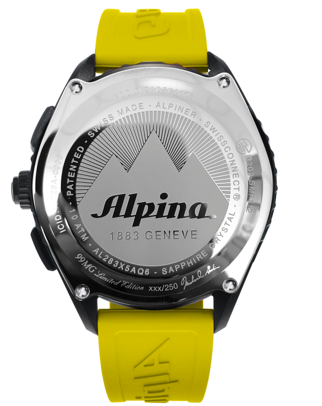 Alpinerx Special Edition Michael Goulian Black/Yellow | Tracking Watches | Alpina Watches