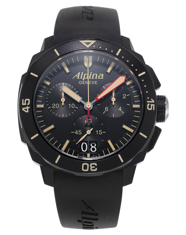 SEASTRONG DIVER 300 <br> BIG DATE CHRONOGRAPH <br> BLACK