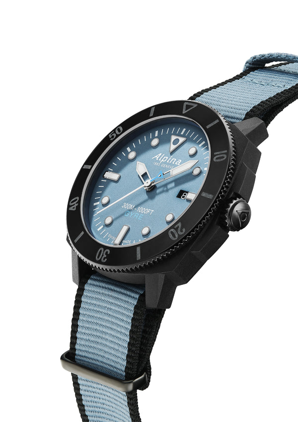 Blue Dial Wristwatch