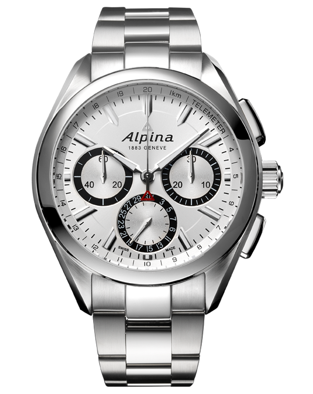 ALPINER 4 MANUFACTURE <br> FLYBACK CHRONOGRAPH <br> SILVERED SUNRAY / BRACELET