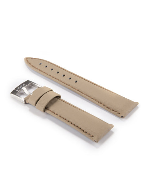 Genuine Leather Technical Strap | Beige Genuine Leather | Alpina Watches