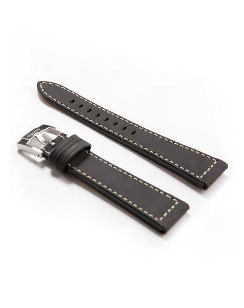 Startimer Pilot Automatic Black Leather Watch Strap | Alpina Watches