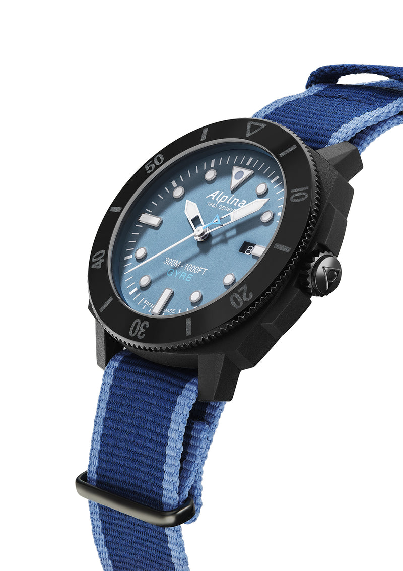 SEASTRONG DIVER GYRE GENTS AUTOMATIC <BR> SMOKED BLUE