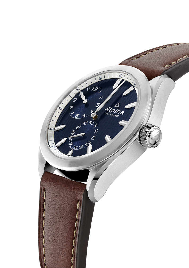 ALPINER REGULATOR AUTOMATIC <BR> DARK BLUE <BR> BROWN