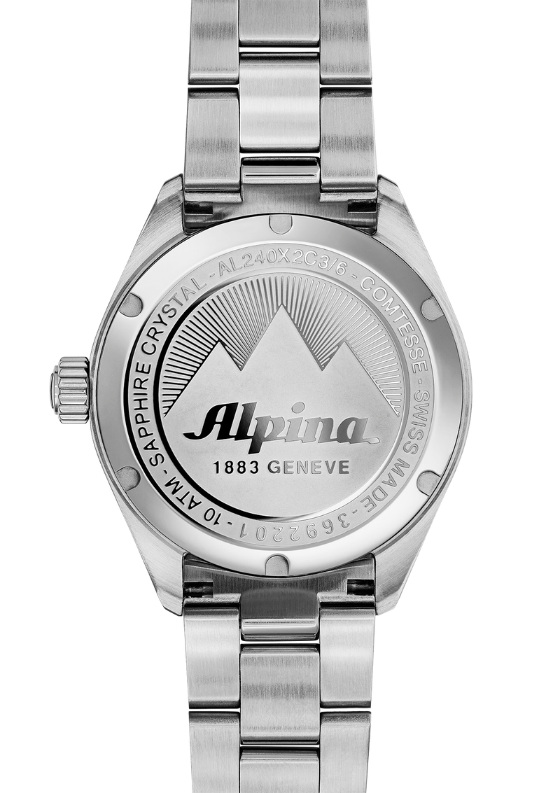Comtesse Black Bracelet | Silver Indexes | Alpina Watches