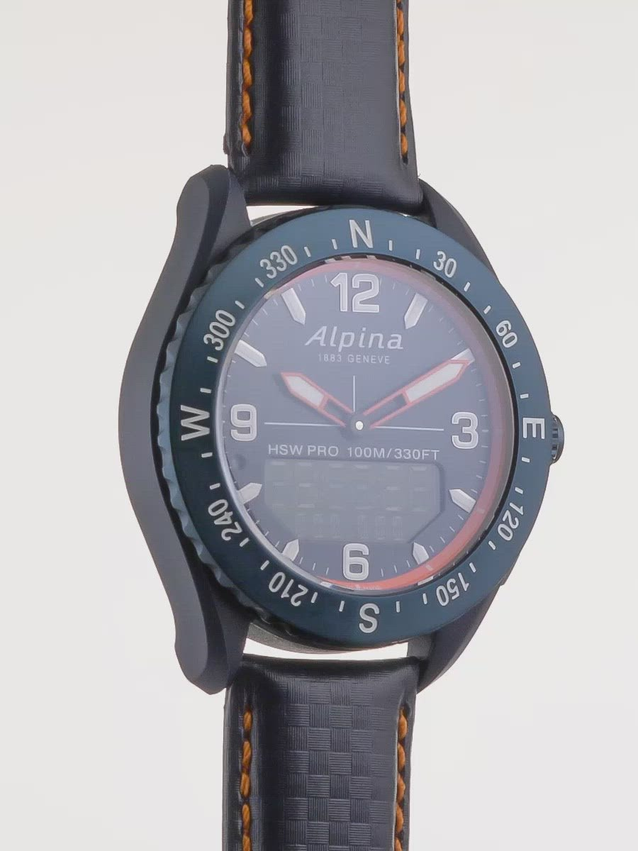 Sports Watches For Men | Alpinerx Navy Blue / Navy Blue | Smart Alarm | Alpina Watches