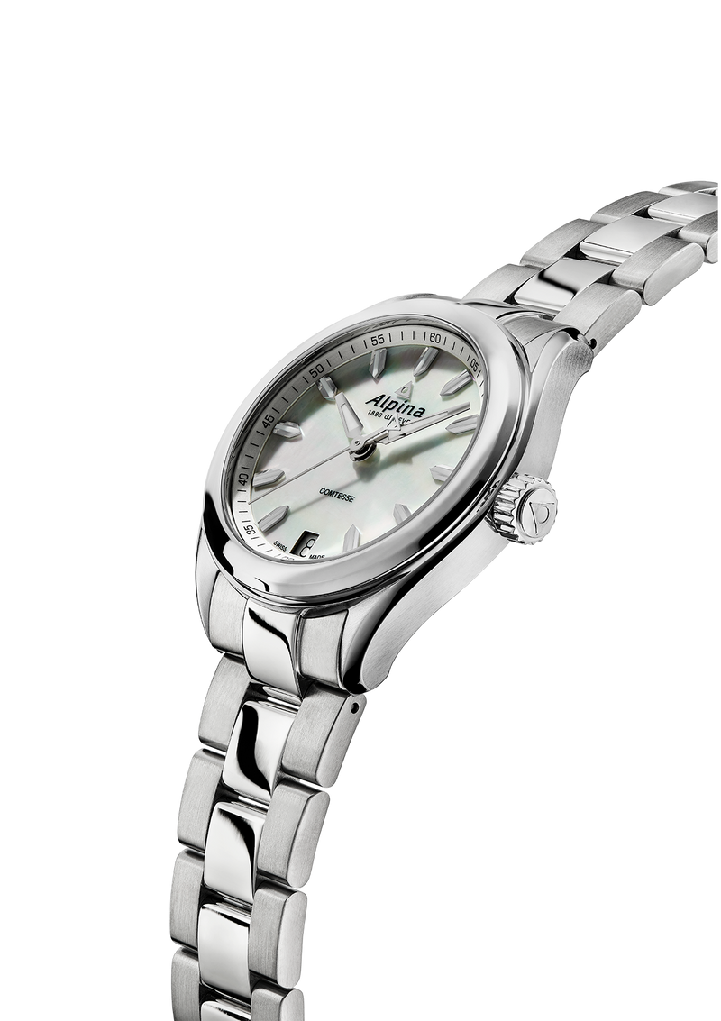 Comtesse White Bracelet | Technology-Inspired Dial | Alpina Watches